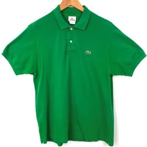 Lacoste Shirts - Mens Lacoste Green Short Sleeve Polo Large Size 5